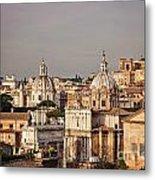 City Of Rome At Dusk Metal Print