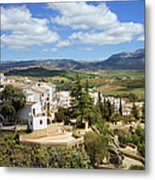 City Of Ronda In Spain Metal Print