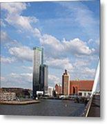 City Of Rotterdam From Erasmus Bridge Metal Print