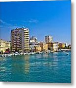 City Of Zadar Waterfront And Harbor Metal Print