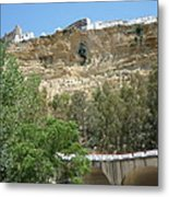 City On A Cliff Metal Print