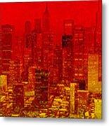 City On Fire Metal Print