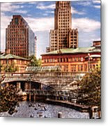 City - Providence Ri - The Skyline Metal Print by Mike Savad