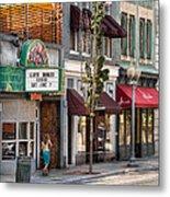 City - Roanoke Va - Down One Fine Street  Metal Print by Mike Savad