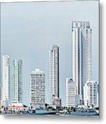 City Skyline, Bocagrande, Cartagena Metal Print