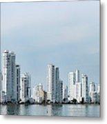 City Skyline, Castillogrande Metal Print