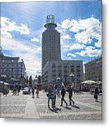 City Square In Stockholm Metal Print