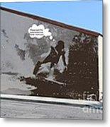 City Surfin Street Art Metal Print