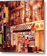 City - Vegas - Ny - Broadway Burger Metal Print by Mike Savad