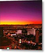 City - Vegas - Ny - Sunrise Over The City Metal Print