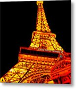 City - Vegas - Paris - Eiffel Tower Restaurant Metal Print