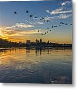 City Wakes Metal Print