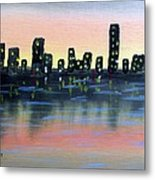 City Water Metal Print
