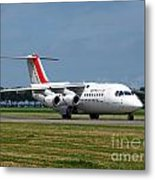 Cityjet British Aerospace Avro Rj85 Metal Print