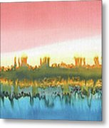 Citylights Metal Print