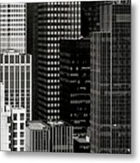 Cityscape In Black And White Metal Print