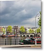 Cityscape Of Amsterdam In The Netherlands Metal Print