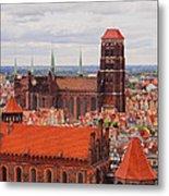 Cityscape Of Gdansk Metal Print