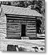 Civil War Cabin Metal Print
