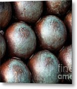 Civil War Cannon Balls Metal Print