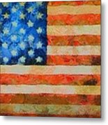 Civil War Flag Metal Print by Dan Sproul