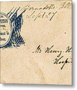 Civil War Letter 25 Metal Print