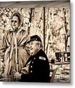 Civil War Officer And Wife Metal Print