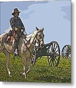 Civil War Officer Metal Print