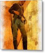 Civil War Soldier Photo Art Metal Print