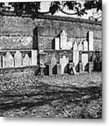 Civil War Wall Of Tombstones Savannah Georgia Metal Print