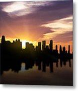 Calgary Sunset Skyline  Metal Print