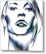 Claire Danes Metal Print by Wu Wei