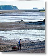 Clam Digger With Wagon Metal Print