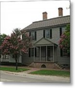 Clapboard House Colonial Williamsburg Metal Print