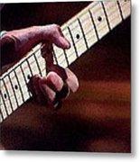Clapton Playing Guitar - Watercolor Painting Metal Print