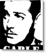 Clark Gable Black And White Pop Art Metal Print