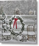 Clarks Valley Christmas 3 Metal Print by Lori Deiter