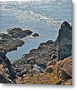 Clashing Tides At Tip Of Cape D'or-ns Metal Print