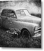 Clasic Car - Pen And Ink Effect Metal Print