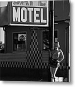 Classic 50s Motel Cafe Metal Print
