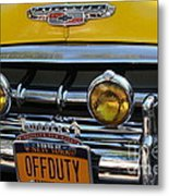 Classic New York City Cab - Detail Metal Print