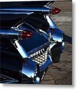 Classic Black Cadillac Metal Print