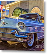 Classic Blue Caddy At Night Metal Print