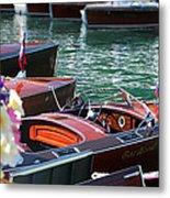 Classic Boats In Lake Tahoe Metal Print