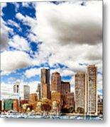 Classic Boston Skyline From The Water Metal Print