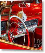 Classic Cadillac Beauty In Red Metal Print