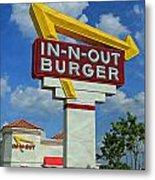 Classic Cali Burger 1.1 Metal Print