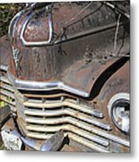 Classic Car With Rust Metal Print