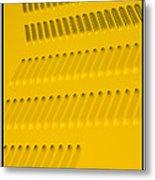 Classic Car Yellow - 09.20.08_468 Metal Print