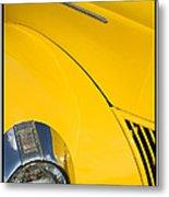 Classic Car Yellow - 09.20.08_471 Metal Print
